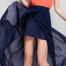 Новинка летние женские прозрачные сексуальные юбки, брендовая длинная юбка макси с разрезом, шифоновая юбка с высокой талией размера плюс M/L/XL/2XL/3XL