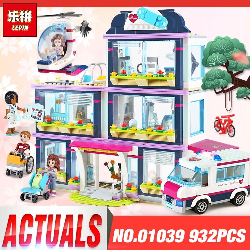 Lepin 01039 932pcs Friends Girl Series Building Blocks Toys Heartlake City Park Hospital kids Bricks girl gifts Legoinglys 41318 цена
