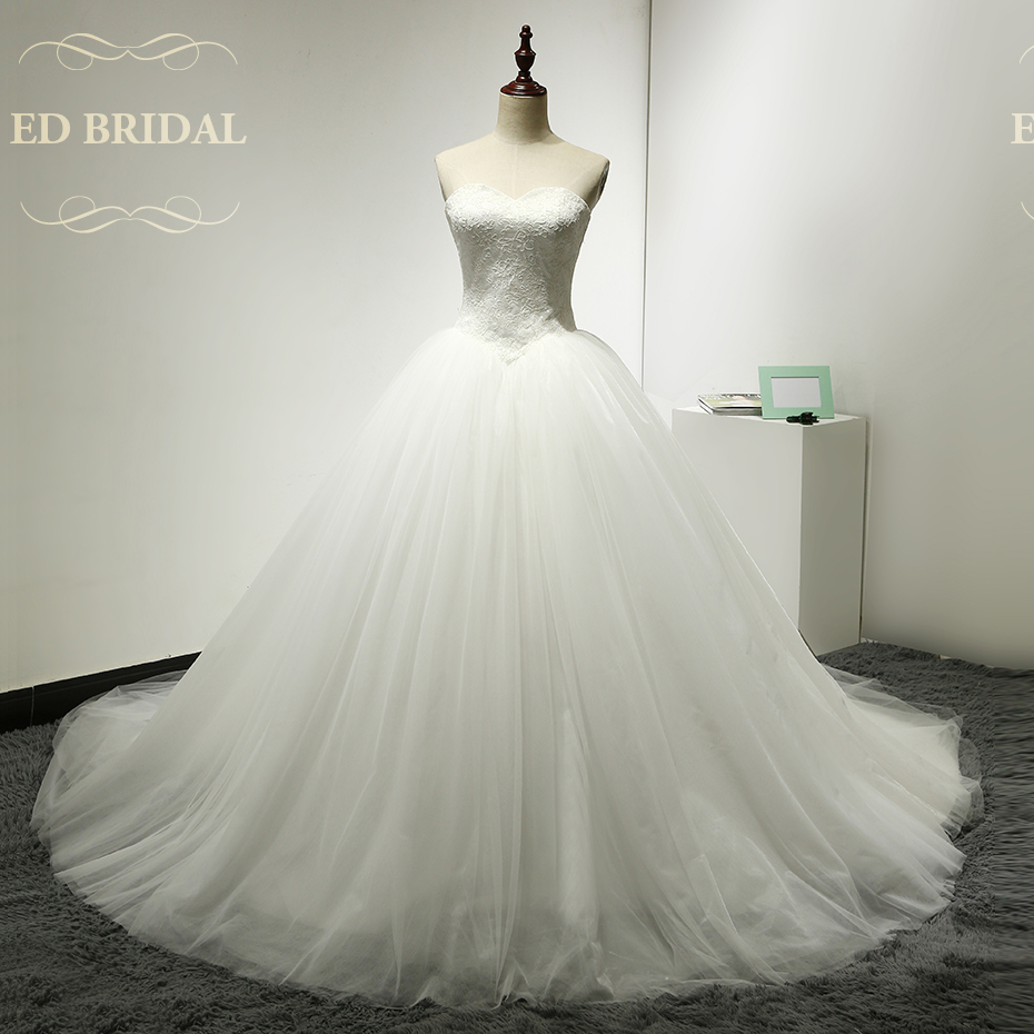 Lace Tulle Princess Puffy Ball font b Gown b font font b Wedding b font Dress