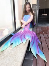 2017 NEW! Girls Kids/Children Adult Women Man Mermaid Tail With Monofin Photos Props Summer Beach Vacation Cospaly Costumes