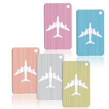 Mini Rectangle Aluminium Alloy Luggage Tags Travel Accessories Baggage Name Tags Suitcase Address Label Holder(China)