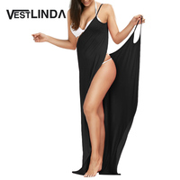 VESTLINDA Beach Dress Cover Up Tunic Women Wrap Slip Backless Sexy Party Long Maxi Dresses Vestidos