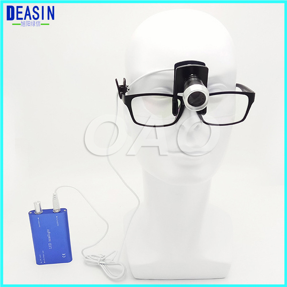 1 pcs x Portable LED Headlight Lamp Blue for Dental Lab Surgical Medical loupes glass стоимость