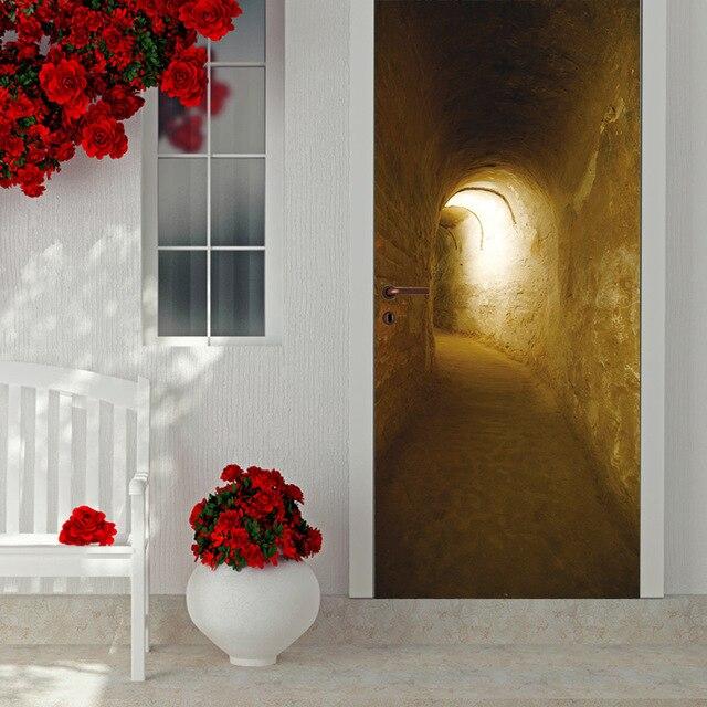 Tunnel Adesivi Per Porte Poster Cancello Della Decalcomania Complementi  Arredo Casa Soggiorno camera Da Letto Adesivo Parete