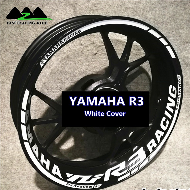 For YAMAHA R3 Motorcycles Waterproof Reflective Sticker  Motorcycles Individualization Wheel Stickers Reflective Rim Stripe Tape