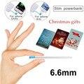 Feliz Navidad mini Tarjeta Original delgado banco móvil 100% 2500 mah powerbank para iphone 6 6 plus 5 5s 5 cfor xiaomi haiwei