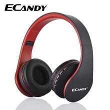 ECandy Bluetooth Over-ear Stereo Audio Music Headphones Handsfree Wireless Earphones For iPhone /HTC/ Nokia Foldable Headset