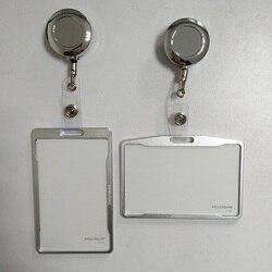 Metall kreditkarte brieftasche frauen männer bank karte tasche schwarz karte Fall Bus ID halter Identität abzeichen mit abzeichen reel PY062