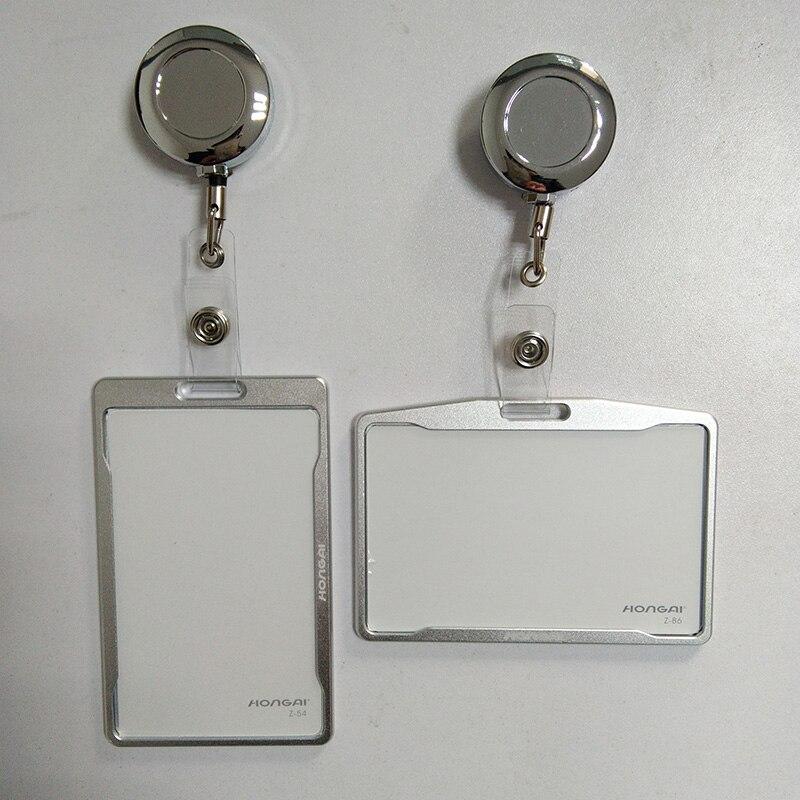 Metall kreditkarte brieftasche frauen männer scheckkartebeutel schwarz karte Fall Bus ID halter Identität abzeichen mit jojo PY062