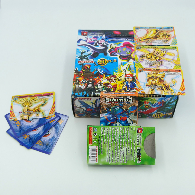 25Pcs/Box pokemon cards Anime Pokemon CardsTrading Cards Toys Children Gift Pokemons Card Game Collection toy
