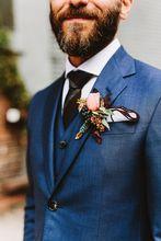 Navy Tuxedos Men Slim Fit Suits Notch Lapel Groomsmen Tuxedos Groom Men Wedding Suits (jacket+pant+vest)