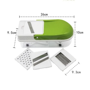 Image 4 - Multifunction Vegetable Slicer with 8 Dicing Blades Manual Potato Peeler Carrot Grater Dicer Kitchen Tools  Vegetable Cutter