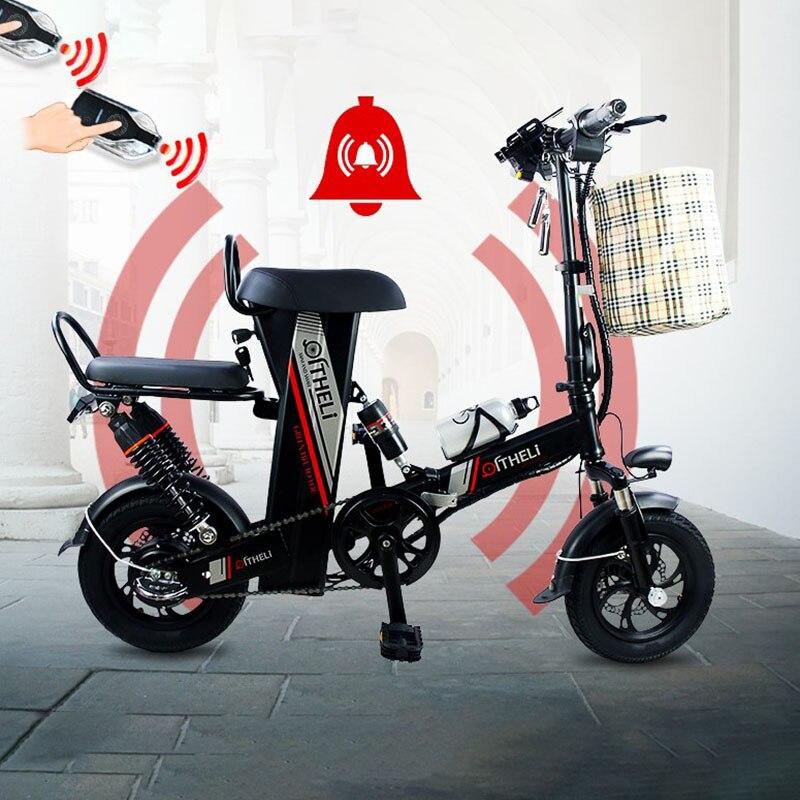 Qi Li vélo électrique petit pliant adulte hommes et femmes voyage mini batterie voiture lithium batterie conduite scooter