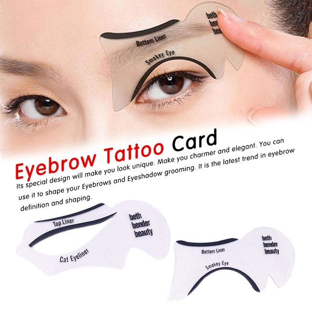 Plastic 2Pcs Eyeliner Stencils Winged Eyeliner Stencil Models Template Shaping Tools Eyebrows Template Card Eye Shadow 3