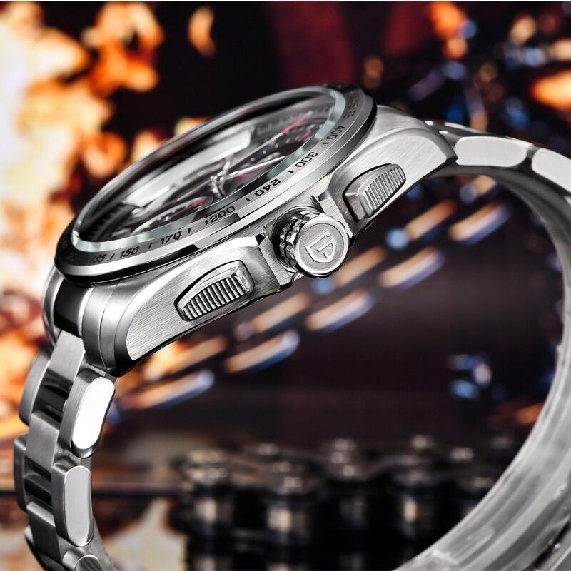 PAGANI projekt luksusowe wojskowy chronografu zegarki sportowe męskie zegarki kwarcowe moda wodoodporna Big Dial męskie biznes prezent zegarek na rękę w Zegarki kwarcowe od Zegarki na  Grupa 3