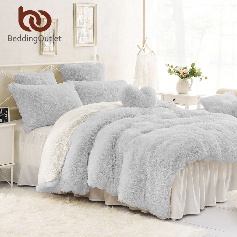 beddingoutlet shaggy duvet cover queen