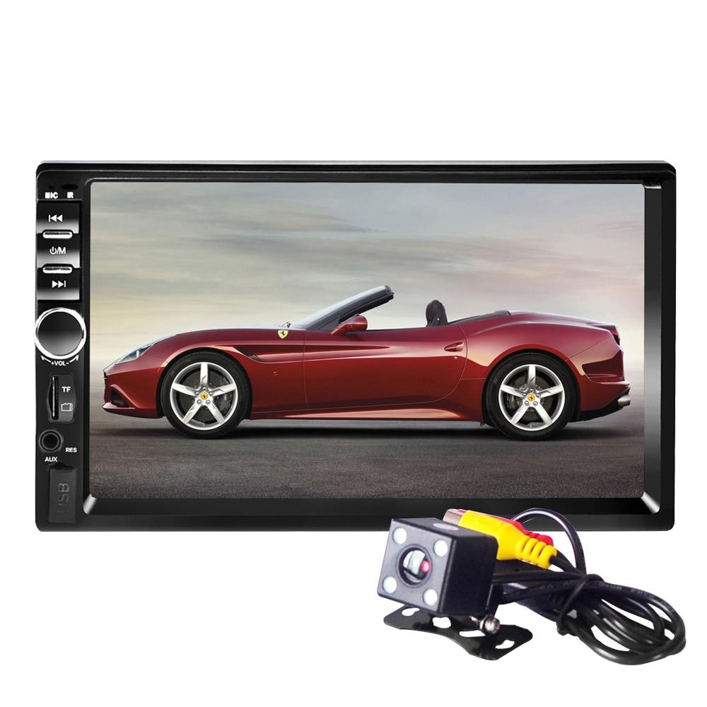 Universel 7 pouces 2 DIN voiture Audio stéréo lecteur 7018B écran tactile voiture vidéo MP5 lecteur TF SD USB FM autoRadio mains libres appel
