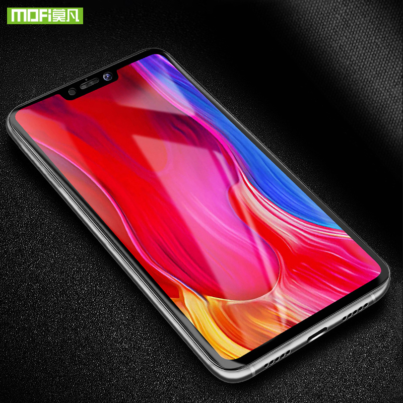 Mofi for xiaomi mi 8 lite glass full cover tempered glass original 100 screen protector mi8 youth for xiaomi mi 8 lite glass in Phone Screen Protectors from Cellphones Telecommunications