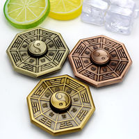 High Quality Gossip Hand Spinner Copper Alloy EDC Fidget Gyro Tri Spinner For Anti Stress Autism