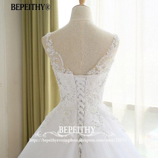 Lindo vestido de noiva vestido de baile com renda vestido de novia princesa vestidos de casamento do vintage imagem real vestido de noiva 2021 6