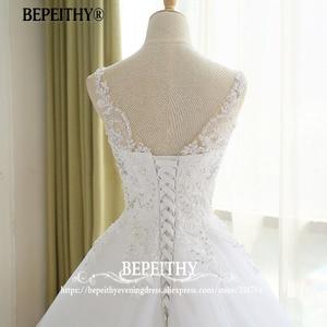 Image 5 - Superbe robe De bal robe De mariée avec dentelle Vestido De Novia Princesa Vintage robes De mariée Image réelle robe De mariée 2020
