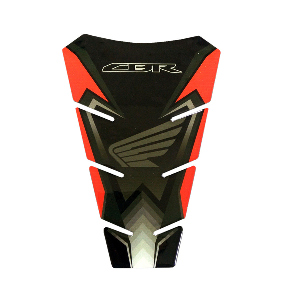 Motorcycle For Honda CBR Raised Fuel Tank Pad High Quality Applique Sticker Motorbike General cbr Purpose Black Red image