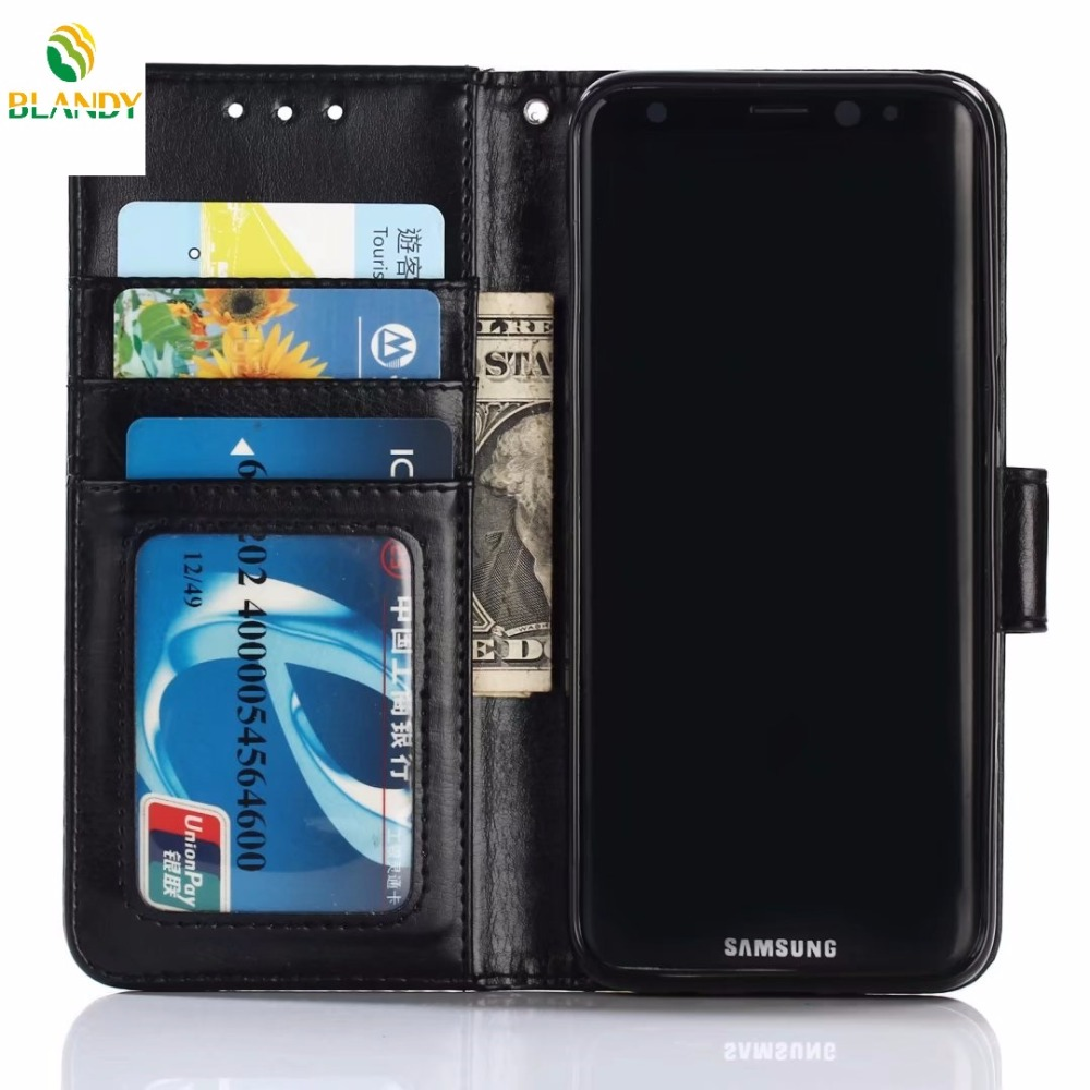 10pcs lot for Samsung note 8 Crazy Horse Wallet PU Leather TPU Case for Samsung S8