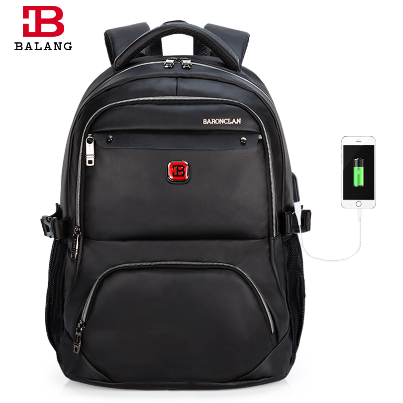 BaLang Brand Men's Bags Travel Business Backpack Waterproof 15.6 Inch Laptop Backpack Leisure Shoulder School Bags for Teenagers xiaomi 90fun brand leisure daypack business waterproof backpack 14 laptop commute college school travel trip grey