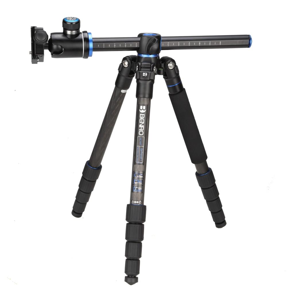 Benro GC169TV1 Carbon Fiber Monopod Tripods For Camera With V1 Ballhead 4 Section Max Loading 14kg DHL Free Shipping штатив для фотокамеры neewer pu60 slr arca benro b0 b1 b2 j1 j0 ballhead