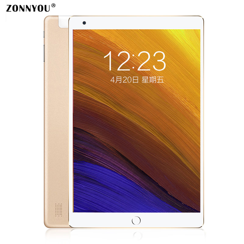 10.1 Tablet PC Android 8.0 Google Browser 3G Call LTE Phone Call Octa Core 4GB RAM 64GB ROM Wi-Fi GPS Bluetooth Tablet image