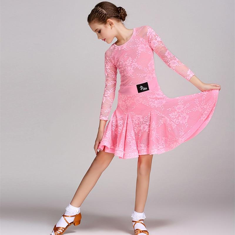 6 colores azul vestido Latino para niñas niños traje de la danza ...