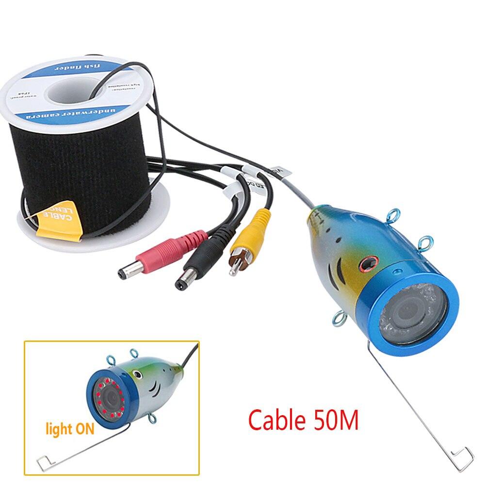 GAMWATER 1000tvl <font><b>Underwater</b></font> <font><b>Fishing</b></font> Cable+ Camera with 12 PCS <font><b>LED</b></font> Infrared Lamp <font><b>Lights</b></font>