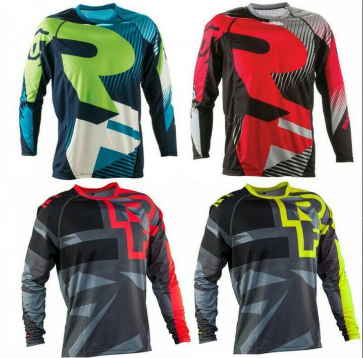 2018 NEW Mountain Bike Riding Top Long Jersey Downhill jersey motocross mtb dh Men DH MX Clothing MTB Shirt