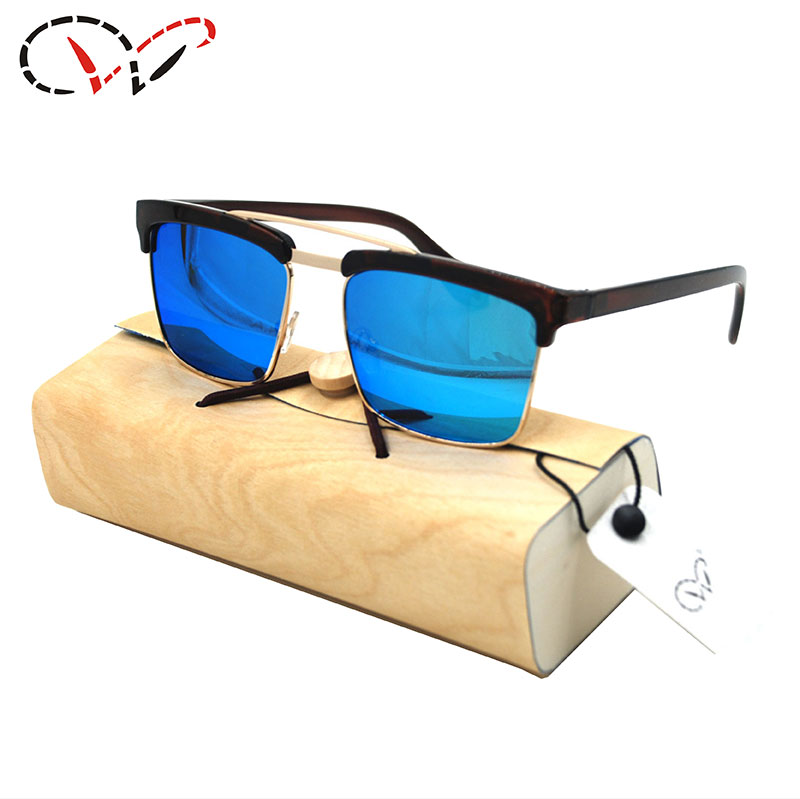 aviation sunglasses x0x3  13 ColorsLoubotin Men Sunglasses Aviator Plastic Half Frame With Blue  Lenses Hombre Men Sunglasses Aviator