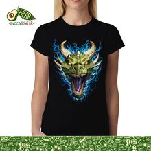 Green Dragon Face Flames Women men T-shirt S-3XL New T Shirts Funny Tops Tee New Unisex Funny  High Quality Casual Printing цена