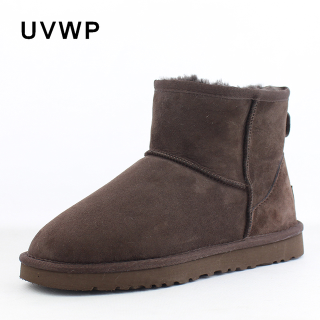 8082f7f4c0303 Hot Sale Genuine Sheepskin Classic Snow Boots for Women 100% Natural Fur  Warm Winter Boots Wholesale Retail Woman Ankle Boots