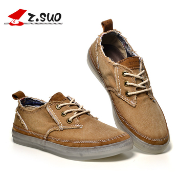 Z.Suo Brand Spring Autumn Rubber Mens Shoes Breathable Top Quality Fashion Lace up Canvas Casual Shoes Flats Zapatillas Hombre 1