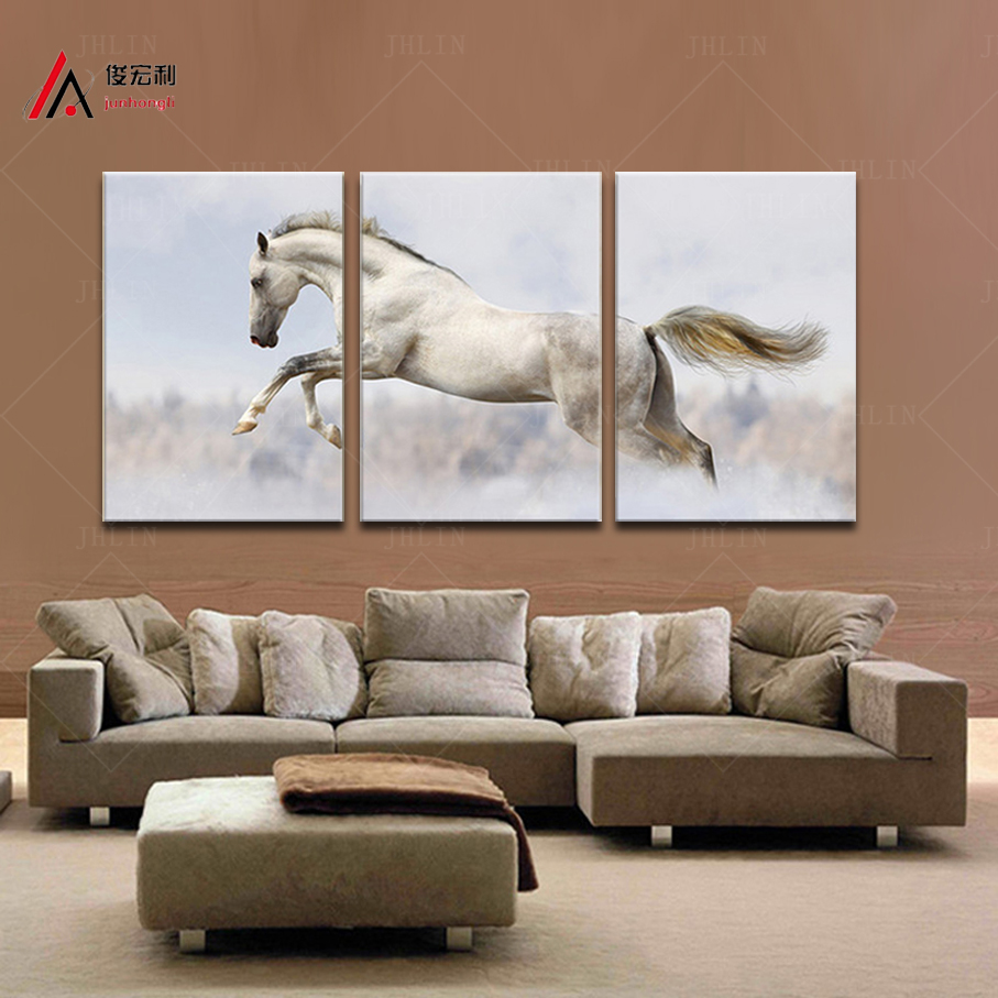 Home And Office Decor Canvas Print Animal Horse Pictures Wall Decor Modular  Picture Painting And Frame For Kitchen Free Shipping