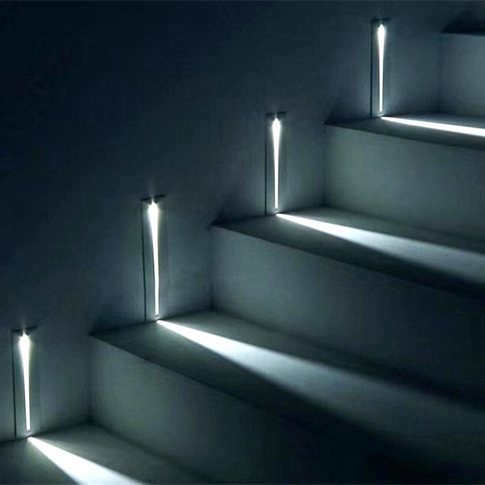 3 w recessed led luz da escada AC85-265V interior ip20 ao ar livre ip65 canto luzes de parede escadas escada escada corredor lâmpada