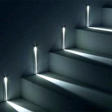 3w recessed led luz da escada AC85-265V interior ip20 ao ar livre ip65 canto luzes de parede escadas escada escada corredor lâmpada