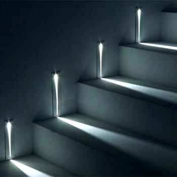 3W Recessed Led Stair Light AC85-265V Indoor IP20 Outdoor IP65 Corner Wall Lights Stairs Step Stairway Hallway Staircase Lamp