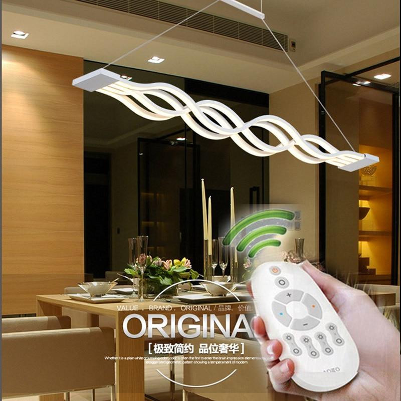 BLUE TIME L100CM 120cm New Creative Modern LED Pendant Lights Wave Hanging Lamp Dining Room Living Light 110V 220V