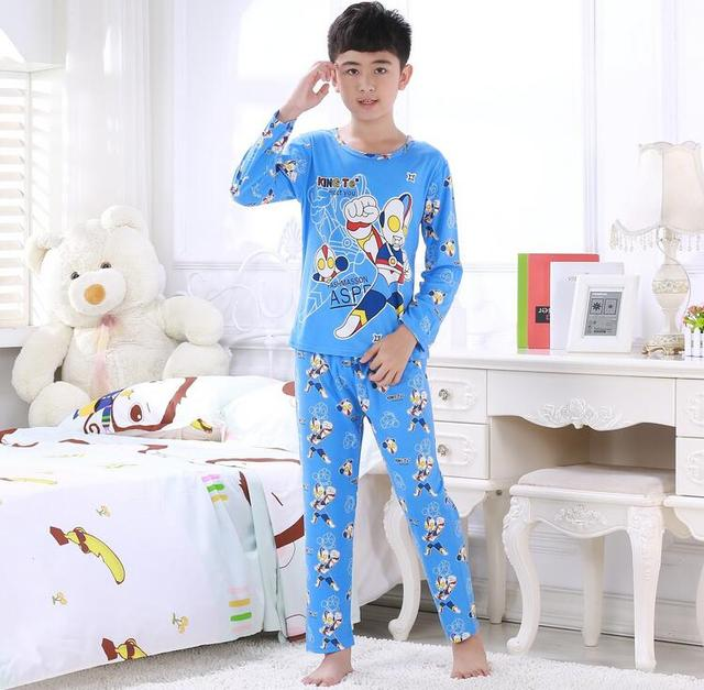 High-quality children pajamas fashion printing winter sleepwear modal pyjamas children home warm clothing smart kids pajama sets