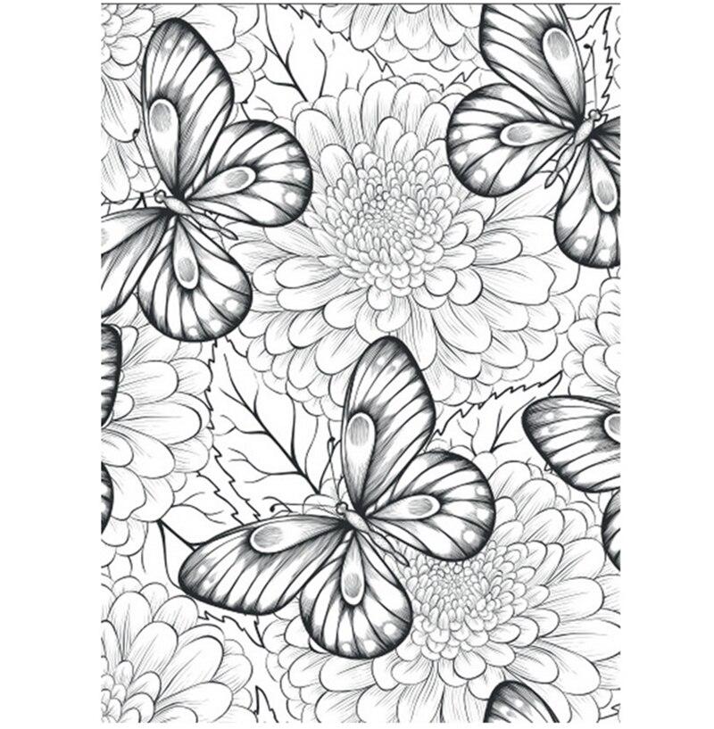 76 página 25x25 cm flores Monogatari adultos libros para colorear ...