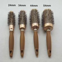 Free Shipping 1Pcs Professional Ceramic Brush Ionic Nano Technology Round Hair Brush With Needle Tail GIC-HB522 High Quality