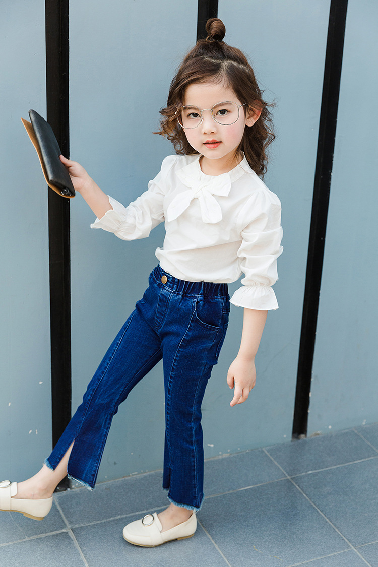Summer Tight Bellows Childrens Clothing Girls Jeans For -2535