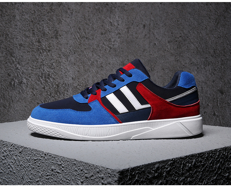 New Hot Style Men Skateboarding Shoes Lace Up Athletic Shoes Outdoor Balance Walking Flat Shoes Comfortable Trekking Sneakers
