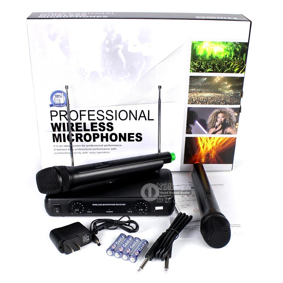 Professionaalne traadita mikrofon Karaoke süsteem Kahekordne - Kaasaskantav audio ja video - Foto 6