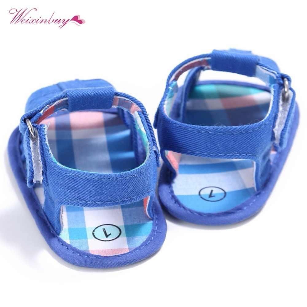 WEIXINBUY Baby Sandalen Kleinkind Jungen Mädchen Weiß Weiche Sohle Krippe Schuhe Infant Turnschuhe Sandalen 0-18 Monate