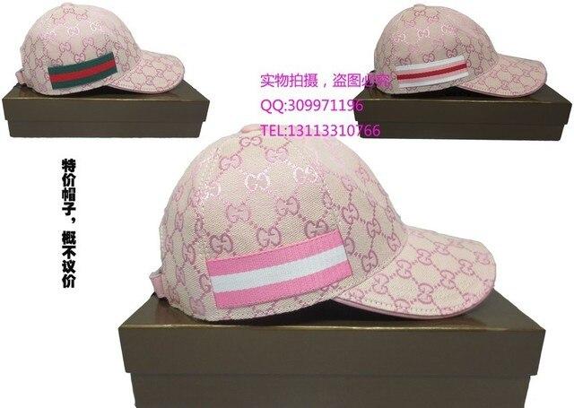 2013gucci pink hat female summer baseball cap sun hat sports cap outdoor b6a80ebe897